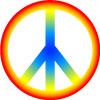 Peace sign sticker graphic