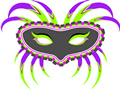 mardi gras mask graphic