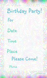 birthday party invites for boys birthday parties or for girls birthday party