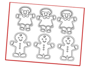 gingerbread ornaments color Christmas and New Year are the