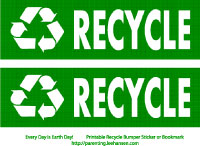 photo relating to Recycle Labels Printable identified as Environment Working day Printables and Paper Crafts