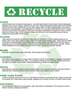 printable recycle poster, earth day paper craft