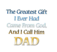 Dad gift from God card