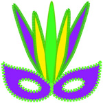 free print mardi gras tribal design mask