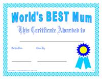 world#39;s best mum award