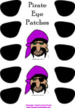 Pirate Eye Patch Party Game
