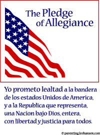 image about Pledge of Allegiance in Spanish Printable named Printable Pledge of Allegiance Flag Posters
