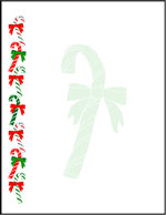 Candy canes border sheet