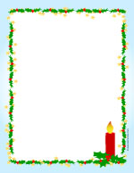 Christmas candle scrapbook paper