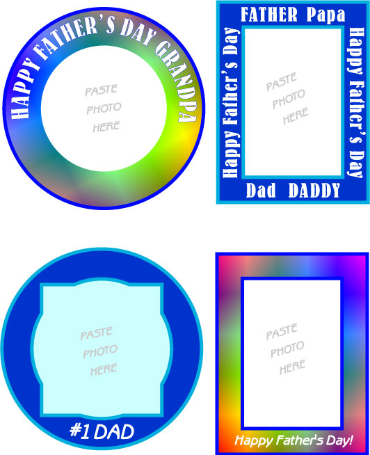 Free Printable DAD Mini Photo Frame Stickers and Clip Art