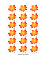 image about Fall Leaf Printable called Printable Maple Leaf Stickers and Labels