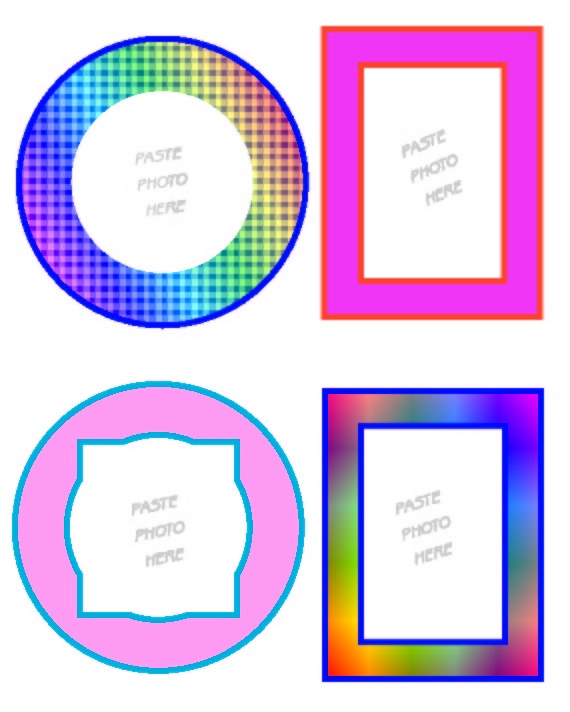 Printable Picture Frame Clip Art Stickers