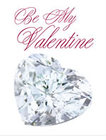 diamond heart be my valentine