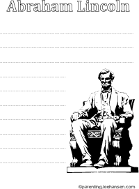 President Abraham Lincoln printable worksheet