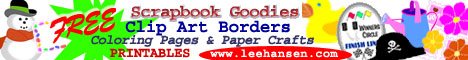 free clip art,scrapbook borders, coloring pages, printables at leehansen.com