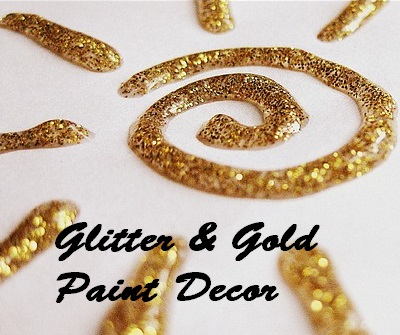 Gold glitter DIY paint decor, Parenting.LeeHansen.com