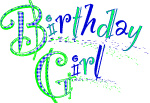 Birthday girl printable sign clip art