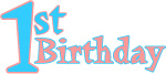 1st birthday free clip art graphic sample