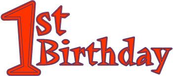 1st birthday word art red letters rh parenting leehansen com 1st birthday clip art for baby girl 1st birthday clip art boy
