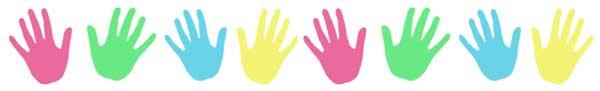 hand prints border graphics  Handprint Clipart Border