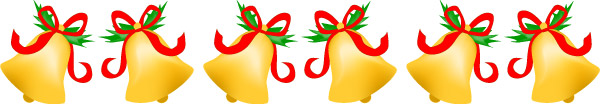 Christmas Clip Art, Christmas Bells Clip art Border