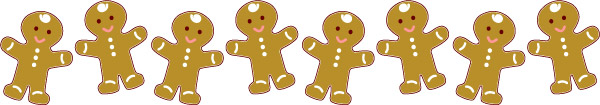 Clip Art And Free Graphics Gingerbread Man Christmas Border Graphic