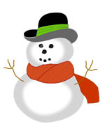 Snowman sticker detail, printable Christmas stickers