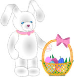 Free Easter Knitting Patterns - Bunnies and Baskets and Eggs - Oh
