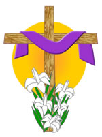 Draped cross, Easter graphic