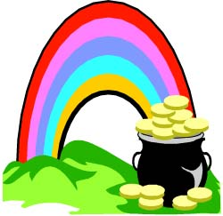 St Patricks Day Rainbow Pot Of Gold Graphic