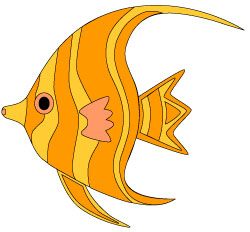 Clip  Fish on Orange Tropical Fish Clip Art