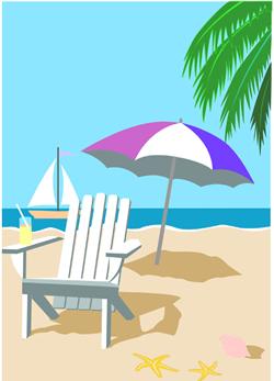 Lifestyle Furniture Beach Chair Clip Beach Umbrella Graphic
