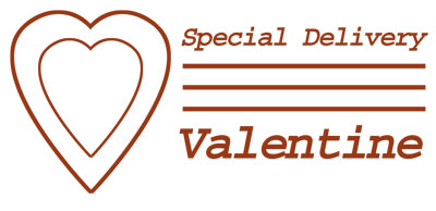Valentine Post Mark, Special Delivery Heart Clip Art