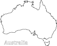 australia map colour in sheet - Australia Coloring Pages Printable