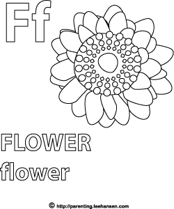 Letter F Activity Page Flower Alphabet Coloring Sheet