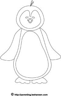 Penguin coloring page printable sheet for Penguin coloring pages pdf