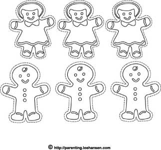 Christmas Coloring Pages Gingerbread Cookies Craft Sheet