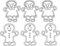 Christmas craft printable - Gingerbread Ornaments to color, cut and paste