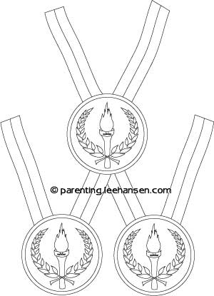 Medal - Free Coloring Pages