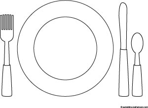 Thanksgiving Table Setting Place Mat Coloring Sheet