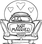 just married coloring pages-#15
