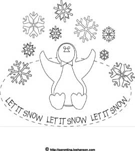 Let It Snow Coloring Pages