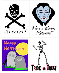 Halloween trading cards, free printables