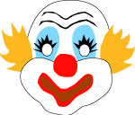 Circus clown mask to print