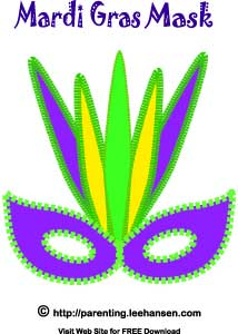 mardi gras tribal mask template