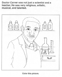 george washington carver coloring page worksheet black history
