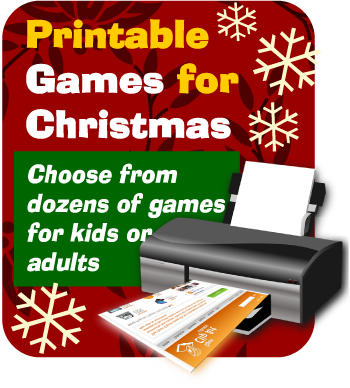 Print games now Christmas party printables