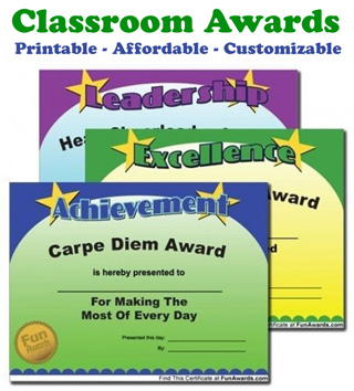 printable teacher awards